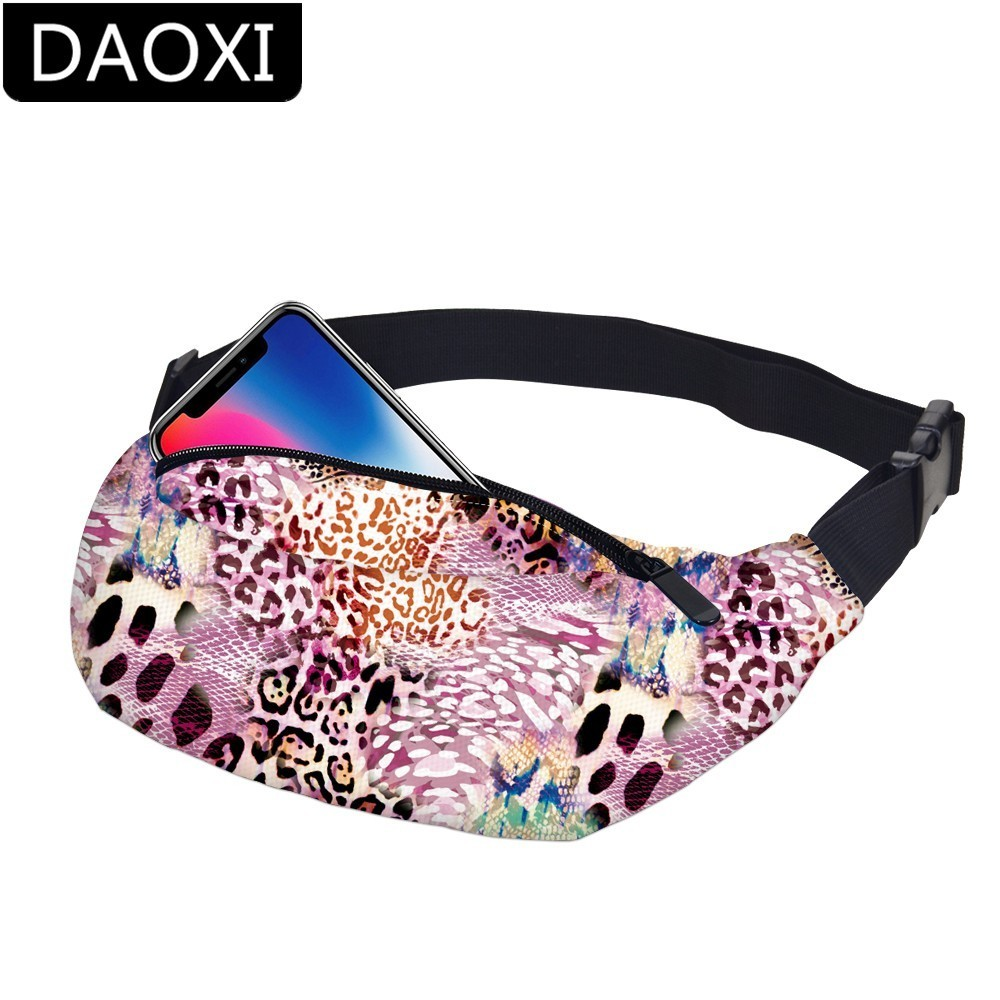 DAOXI Serpentine Fanny Packs Water Resistant Waist Pack Men For Phone Dropshipping YB-38
