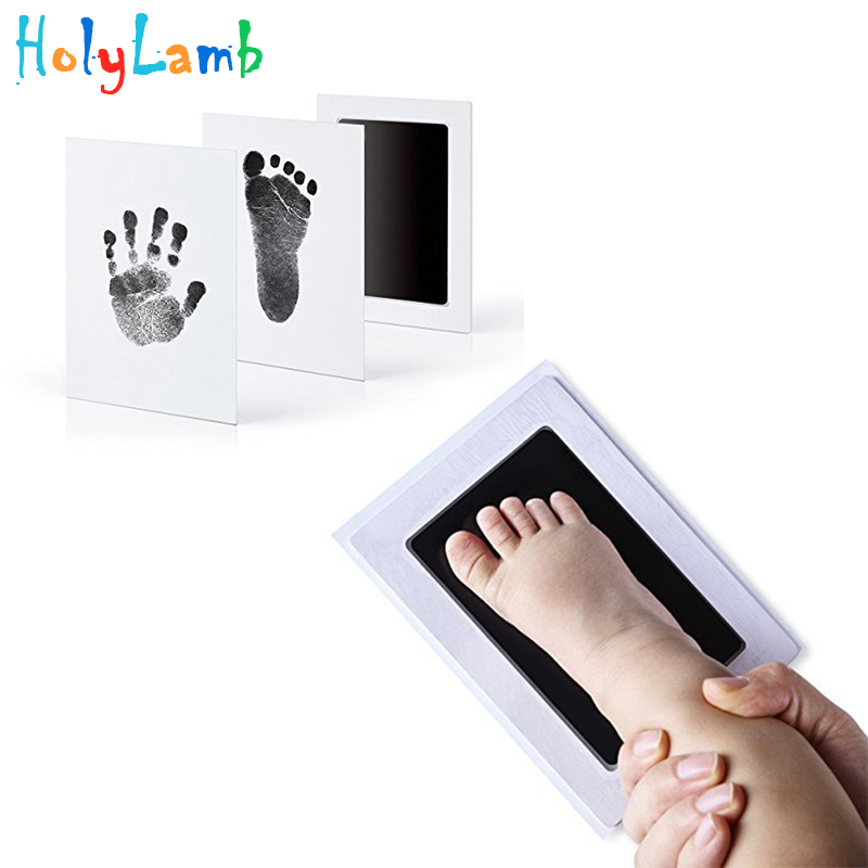 Baby Care Non-Toxic Baby Handprint Footprint Imprint Kit Baby Souvenirs Casting Newborn Footprint Ink Pad Infant Clay Toy Gift