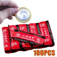 Оптовая продажа 100 шт презервативы супер ультра тонкий большой масла Количество пенис, насадка, Секс Инструмент продукты для Для мужчин пос...