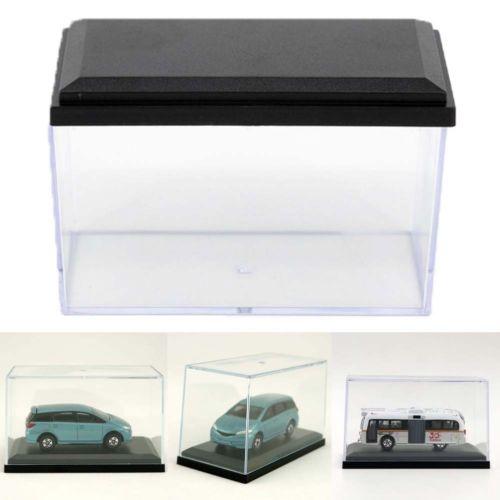 1/64 Schaal Kyosho Acryl Display Anti Dust Show Case Stand Ondersteuning Black Base Doos Voor Diecast Miniatuur Auto Speelgoed Voertuig Model Voor Het Verbeteren Van De Bloedsomloop