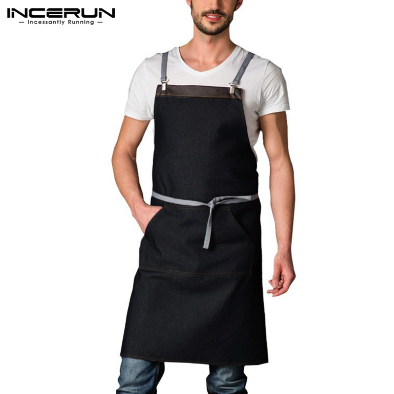 Home Japan Fashion Aprons Waterproof Breathable Kitchen Cooking Baking Neatening Cleaning Aprons With Pocket For Restaurant Home