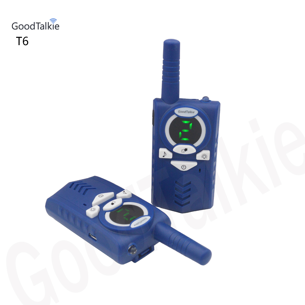 Image 2 - 2pcs/lot T6 Walkie talkie Two way radio USB charge for backpackers-in Walkie Talkie from Cellphones & Telecommunications