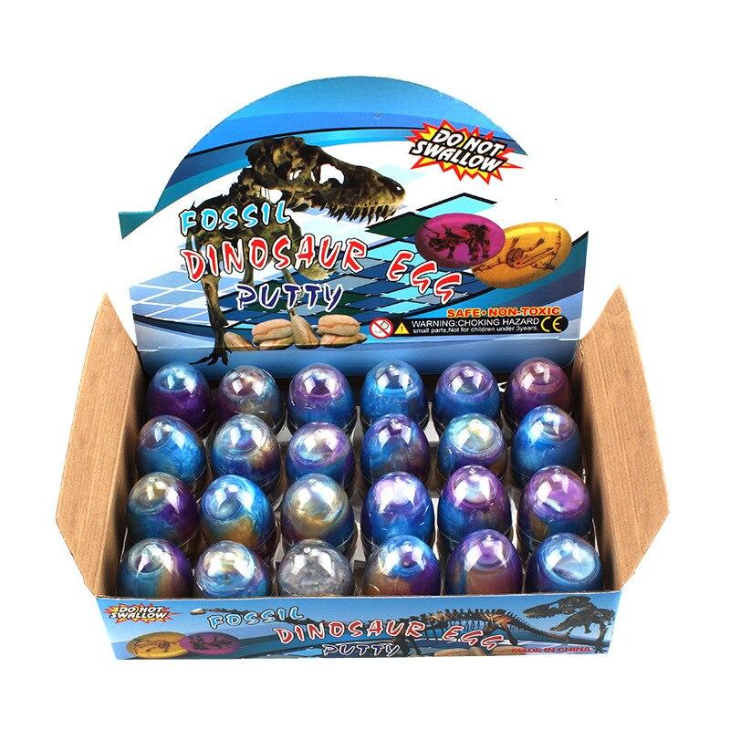 24 pcs DIY Creative jouet oeuf Coloré cristal argile Gelée Boue boue boue Magique modélisation Enfant Argile Jouets Le Soulagement Du Stress jouets pour enfant