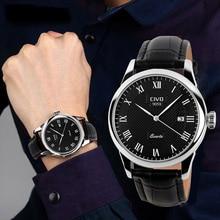CIVO Luxury Top Brand Genuine Leather Mens Watch Waterproof Simple Design Quartz Watches Date Calendar Wristwatch For Men Clock