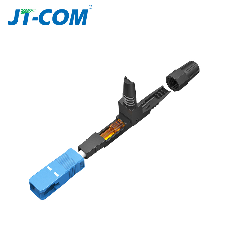 Image 3 - 100pcs SC APC optic Fiber fast connector, field assembly embedded UPC Single mode optical quick cold connector for FTTH cable-in Fiber Optic Equipments from Cellphones & Telecommunications