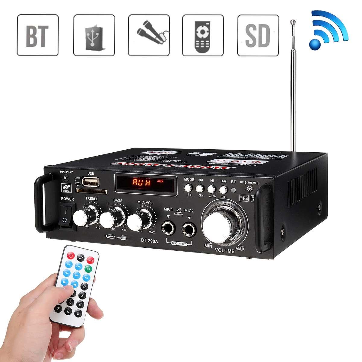 600w casa amplificadores de áudio bluetooth amplificador subwoofer amplificador sistema de som de cinema em casa mini amplificador profissional