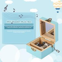 Мини деревянная музыкальная шкатулка в стиле ретро ручная механическая музыкальная шкатулка ручной работы подарок на день рождения