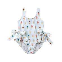 Kids Baby Girls Swimsuit Toddler Baby Girl Sleeveless Bikini Bowknot Swimwear Beach Bathing Suit 1-5Year's Children Bikini 2019