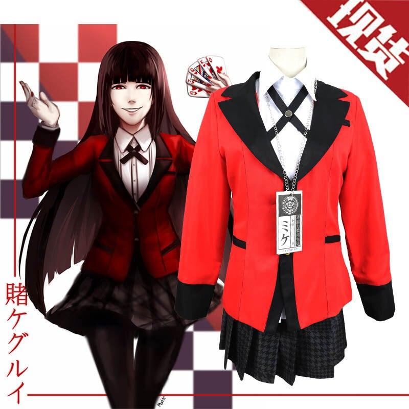 S-XL Full Set JP Anime Kakegurui Halloween Jabami Yumeko anime black friday Cosplay Costume school girl uniform