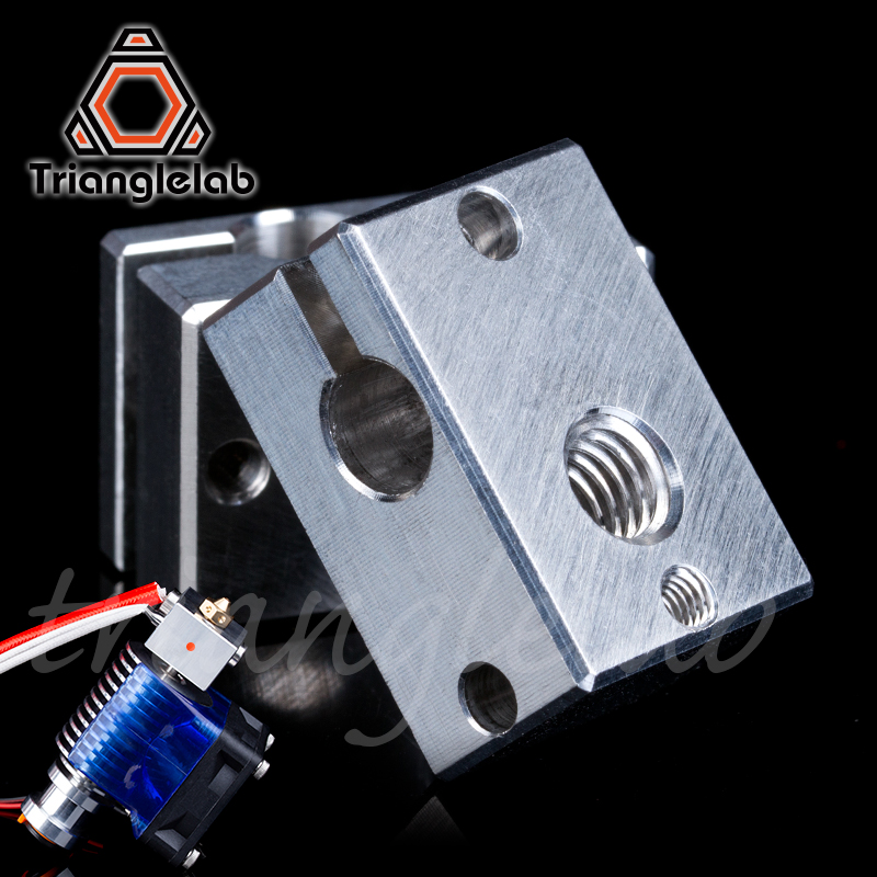 Trianglelab 3D Printer Parts V6 Heater Block For Sensor Cartridges For E3D HOTEND Titan Extruder For PT100 Sensor For E3D HOTEND