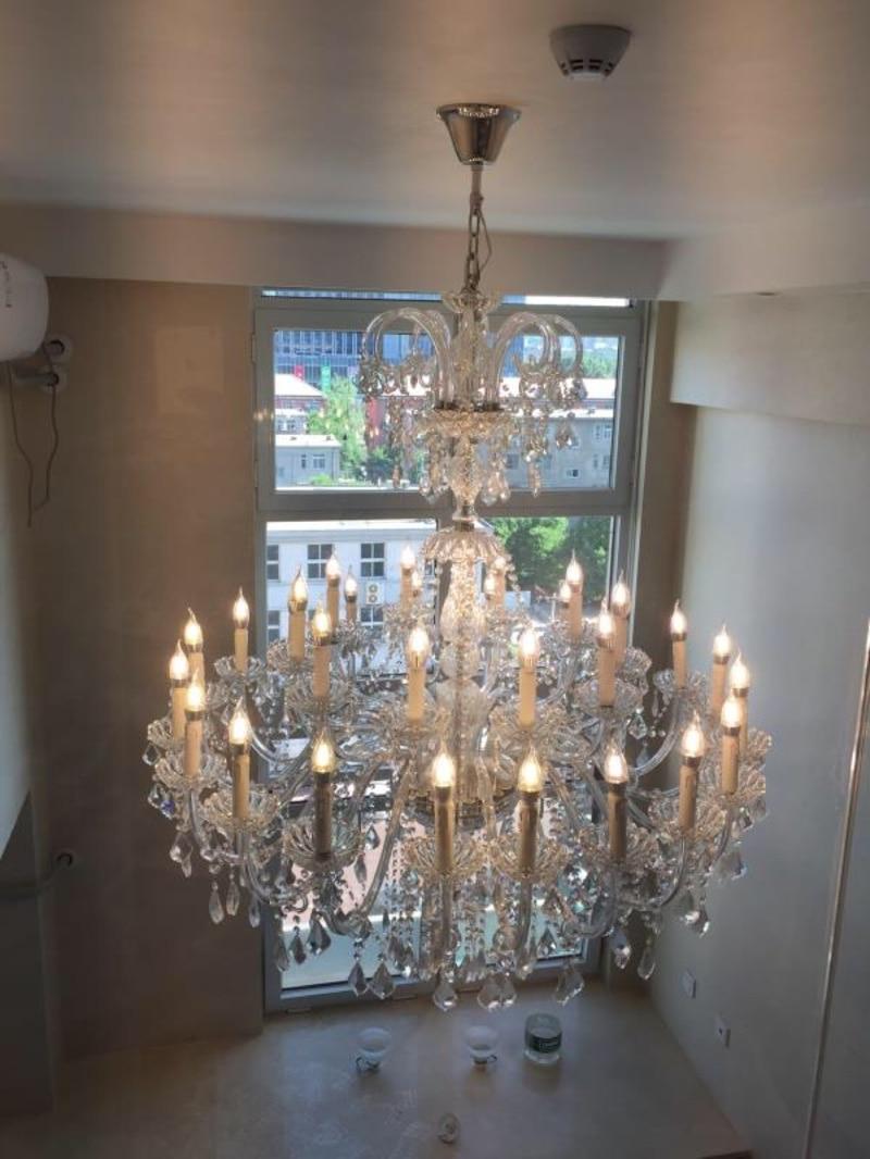 Large 30-light Church Chandelier led Candelabro crystal pendant hotel - Indoor Lighting - Photo 2