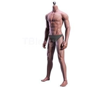 Image 2 - Cuerpo sin costura Muscular Ultra Flexible para hombre, esqueleto de acero inoxidable, cuerpo de piel humana de goma, para cabeza a escala 1/6, juguete, escala 1/6