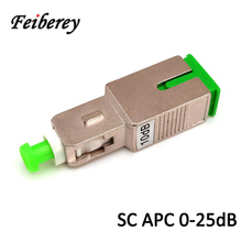 цена на SC APC Singlemode Female to Male Optical Attenuator with 2dB 3dB 5dB 7dB 10dB 15dB 1-30dB Optical Attenuation Fiber Attenuator