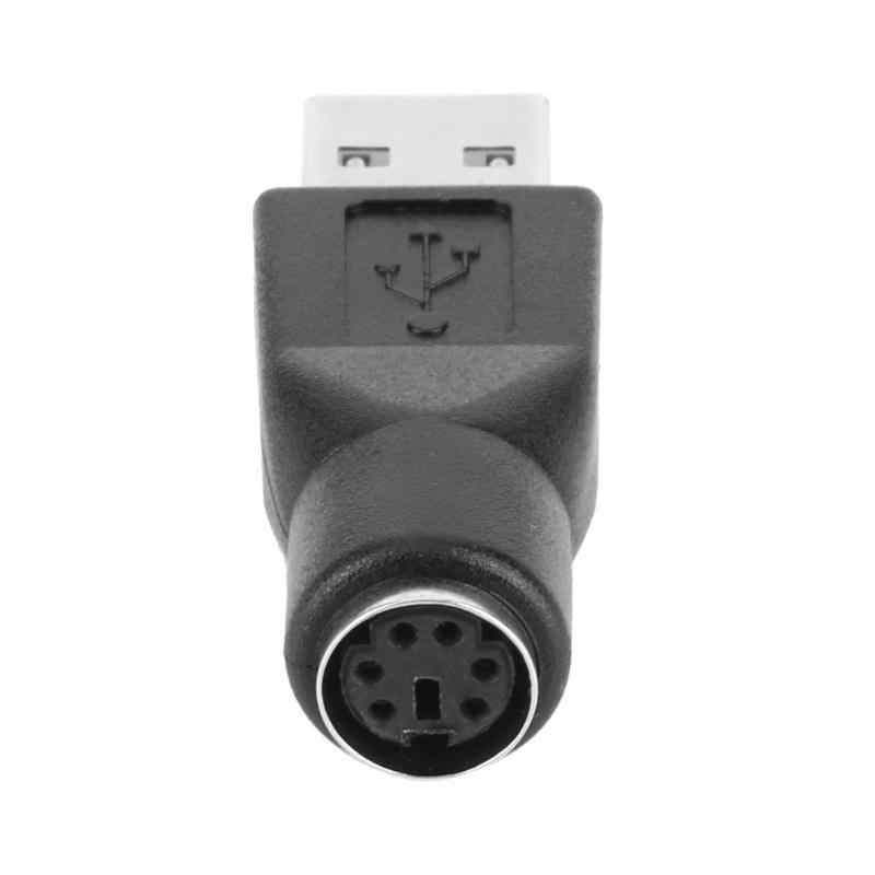 2 шт. PS/2 Женский к USB мужской порт адаптер конвертер сплиттер разъем для ПК Клавиатура Мышь Высокое качество адаптеры