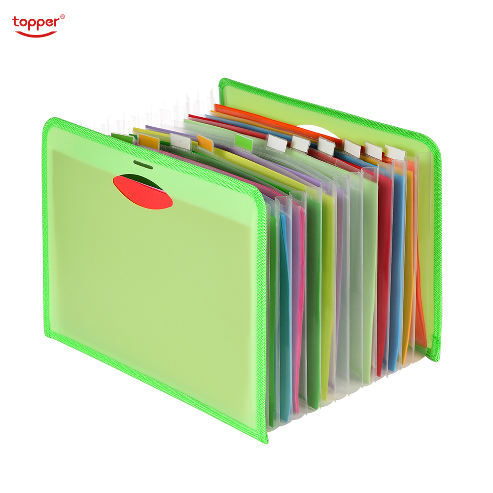 Expanding File A4 12 Pockets Folder Office School Portfolio File folders Document Organizer Plastic 1500 Sheets Large Capacit