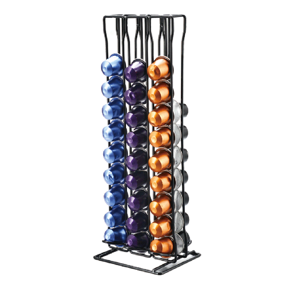 60Pcs Coffee Capsules Pod Display Storage Rack Holder Stand Dispenser For NESPRESSO Coffee Maker Home Kitchen Appliance Parts60Pcs Coffee Capsules Pod Display Storage Rack Holder Stand Dispenser For NESPRESSO Coffee Maker Home Kitchen Appliance Parts