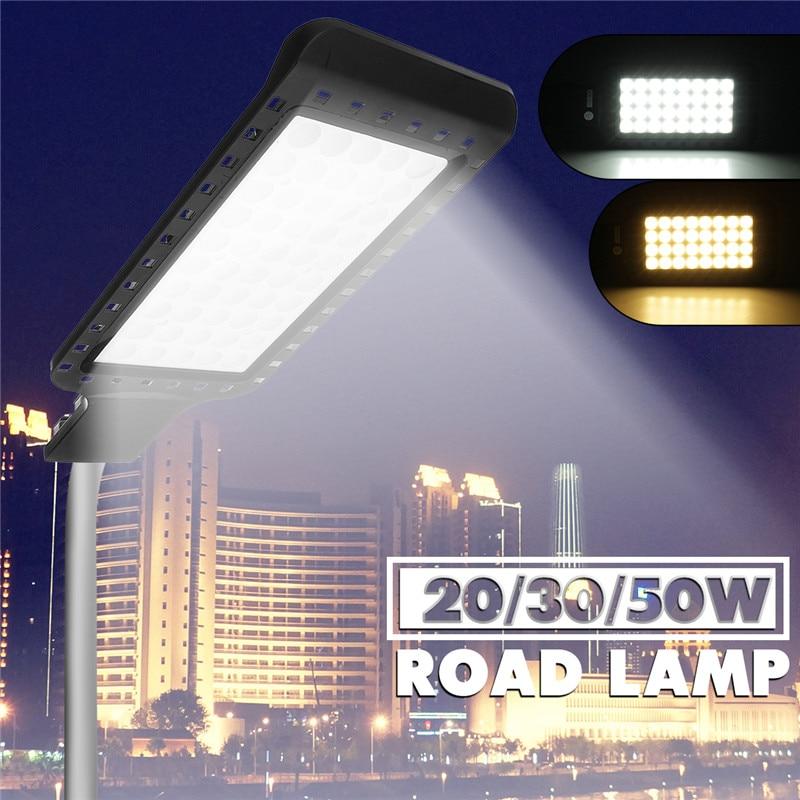 Smuxi 20W 30W 50W True wattage LED Street Light Aluminum Waterproof IP65 AC85 265V Outdoor LED Flood Light Road Garden Lamps