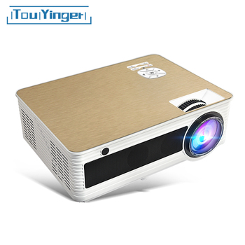Touyinger M5 LED HD Projetor 4000 Lumens (5 Android Bluetooth 6.0G WiFi 4 K Opcional) TD86 Beamer Video Home Cinema 1080 P 3D