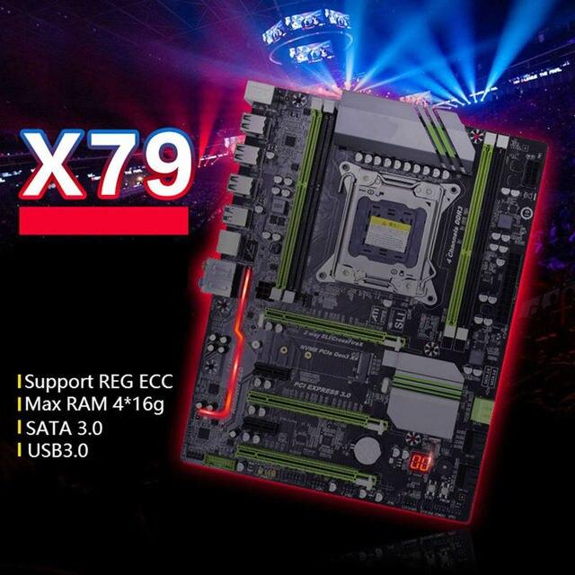 Carte mère X79P LGA2011 ATX USB3.0 Sata3 Pci-E NVME M.2 Ssd prise en charge de la mémoire REG ECC et de la carte mère du processeur Xeon E5