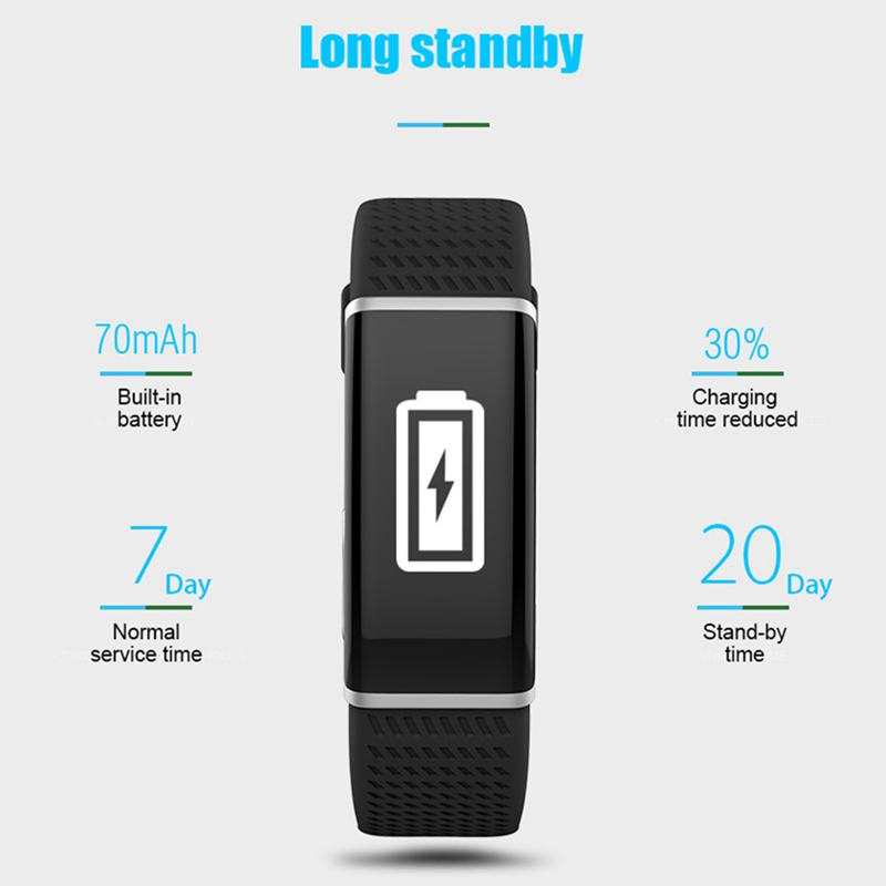 R01 fitness bracelet smart wristband Heart rate activity tracker watch smartband pulsometer sport waterproof band in Smart Watches from Consumer Electronics