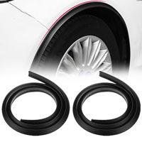 2 pçs universal carro respingo guarda fender alargamento extensão roda sobrancelha moldagem guarnição roda arco tira|Para-lamas| |  -