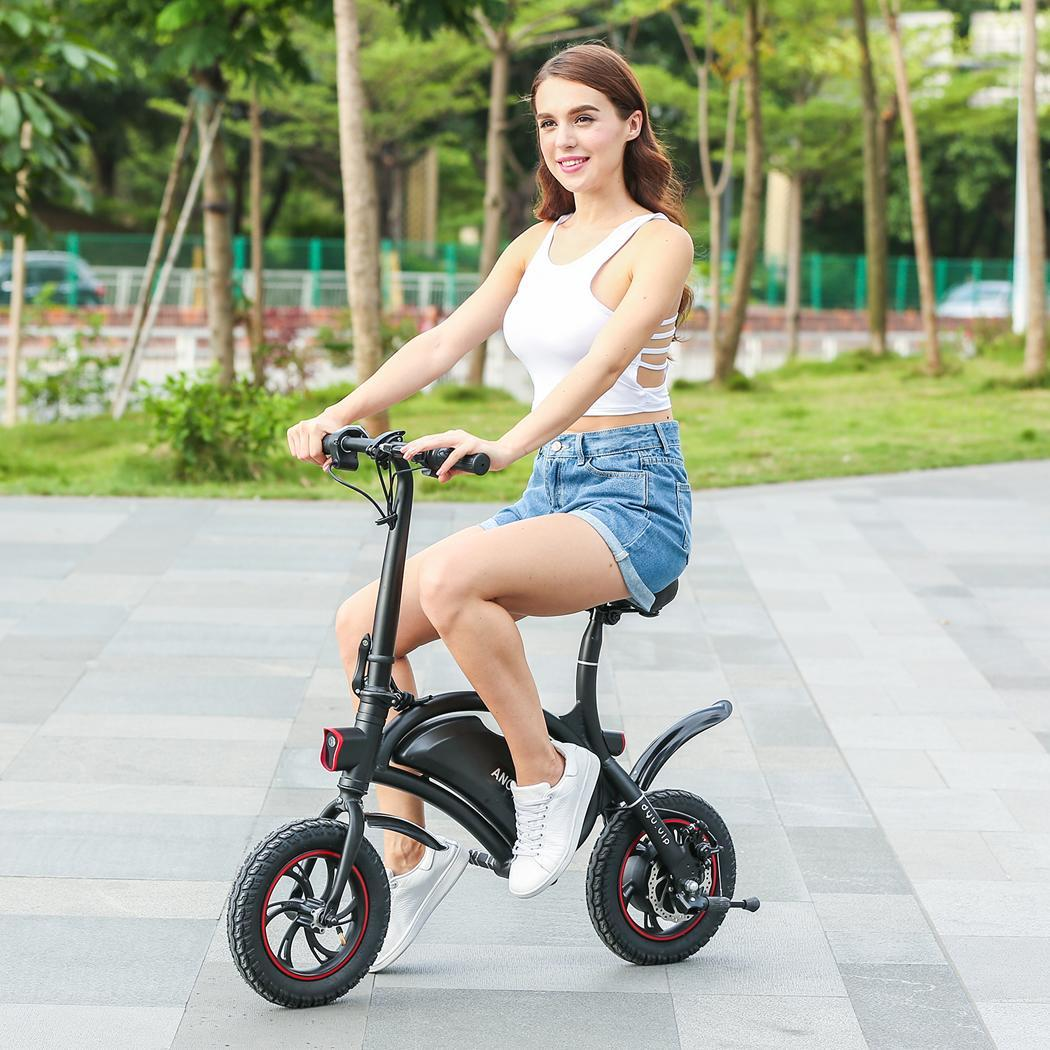 Electric Bike Folding Portable Bicycle Range Electric Adult Student Woman Bicycle Mini Aluminum Alloy Smart Moped Bicycle