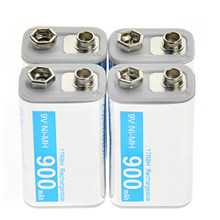 4pcs NiMH 17R8H 9V 900mAh PPS rechargeable battery White block(China)