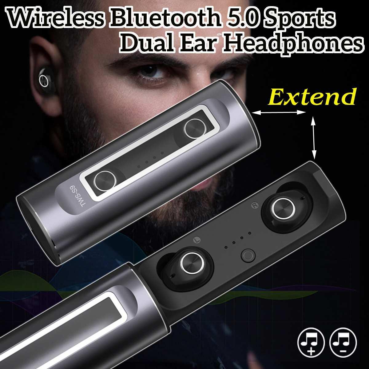 Auto in-Ear sans fil bluetooth 5.0 étanche sport double oreille suppression du bruit casque casque bilatéral stéréo confortable