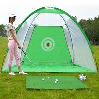 Bater golfe Gaiola Prática Net Portátil Esportes Ao Ar Livre Do Jardim Interior Trainer 2 M