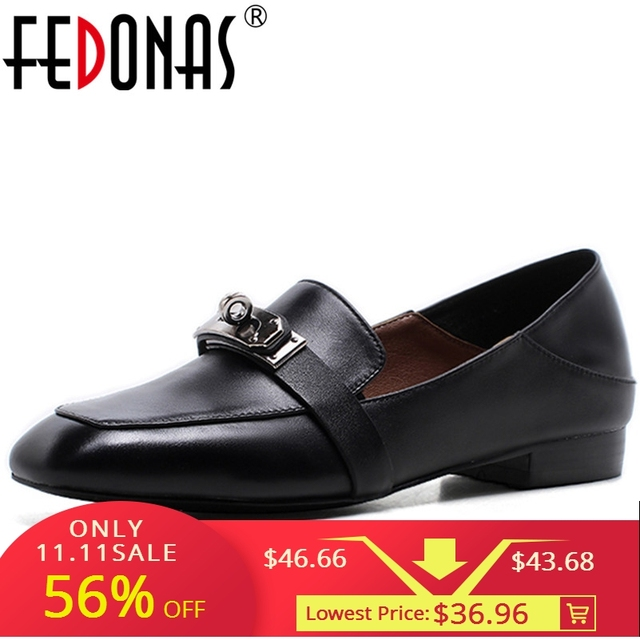 5209b137f FEDONAS Fashion Women Genuine Leather Loafter Shoes New High Quality Four  Season Casual Flats Heels Shoes Woman Large Size 34-42