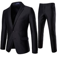 XF007 New Fashion Men's Suit 2 Pieces Professional Business Suit Best Man and Groom's Wedding Mens Suits Blazers