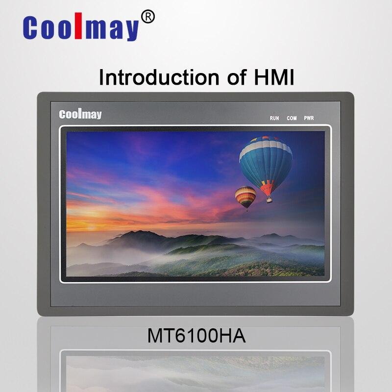 Coolmay MT6100H-W 10 pouces TFT vraie couleur 1024*600 résolution HMI écran tactile avec port ethernet