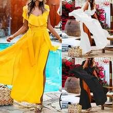 Celmia Summer Sleeveless Maxi Long Dress Women Bohemian Dress Loose Sexy High Split Party Beach Holiday Vestidos Mujer 2019 5XL
