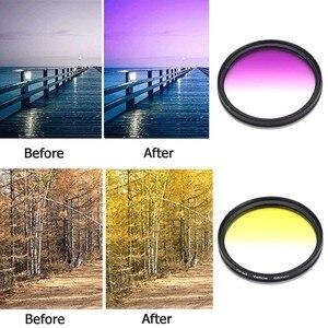 Image 3 - 8 stücke 52 MM 55 MM 58 MM 62 MM 67 MM 72 MM 77 MM Kamera Filter Circo Spiegel objektiv Gradienten UV Filter Für Canon EOS 1100D 600D