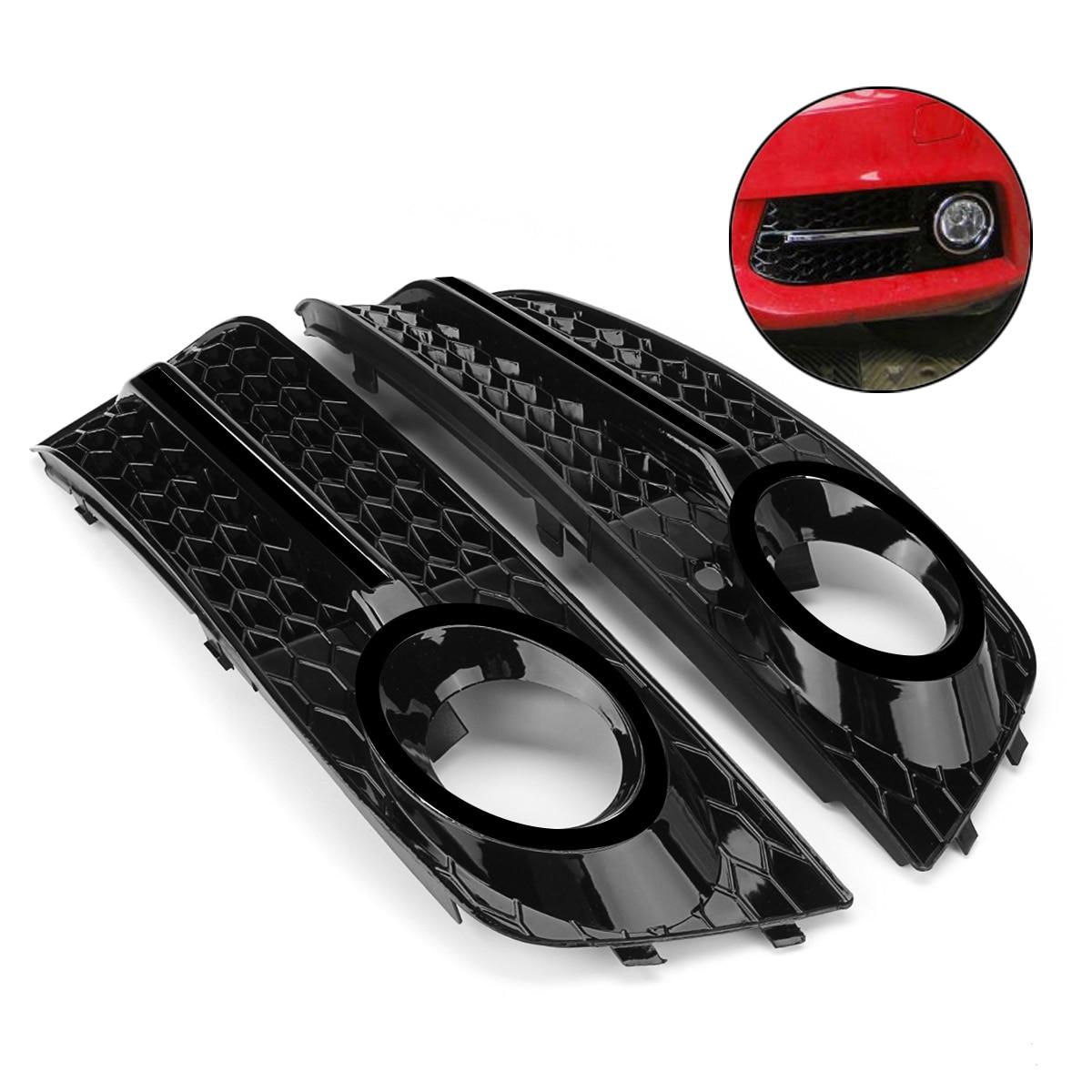 1 par de parrillas de luz antiniebla delantera para automóvil A4 B8 para Audi A4 B8 2009-2011 parrillas de parachoques delantero de coche en parrillas de carreras