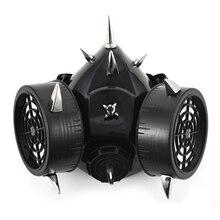 Máscara de Gas Steampunk con remaches Retro, respirador, estilo gótico ciber, para Cosplay, accesorios para fiestas de Halloween