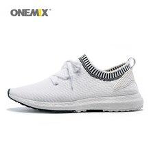 ONEMIX ангел и дьявол серии кроссовки для мужчин крыло Спорт Спортивная обувь Фитнес женщин открытый белый черный вязаный верх
