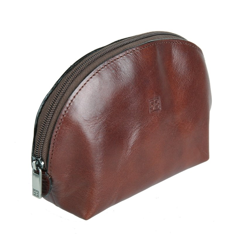 Cosmetic Bags & Cases SergioBelotti 1583L milano brown ly shark crocodile cowhide leather women messenger bags luxury handbags women bags designer crossbody bags women shoulder bag