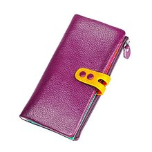 Colorful Women Long Clutch Wallet Wristband Large Capacity Wallets Female Purse Lady Purses Carteras Phone Pocket Card Holder(China)