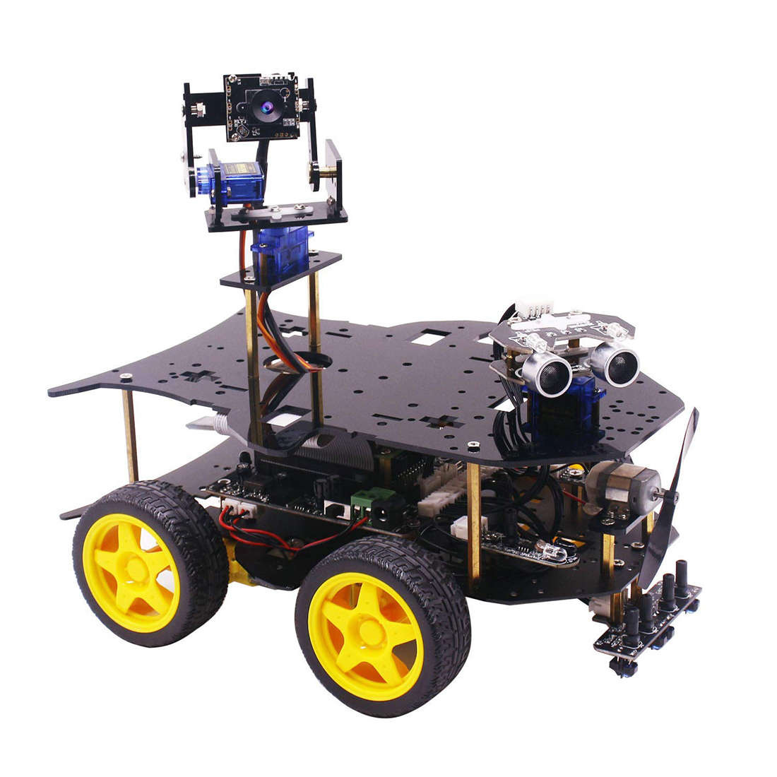 Ultimate Starter Kit for Raspberry Pi 3 B HD Camera Programmable Smart Robot Car Kit Model