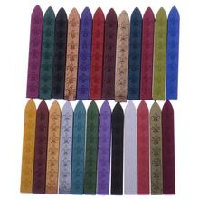 Sealing Wax Stick Wedding Invitations Decoration Retro Seal Stamps 11*11*90MM Fire Paint Wax Strip Sealing Wax