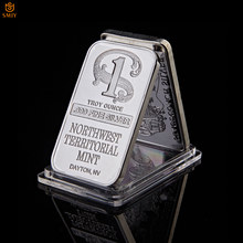 Northwest Territorial Mint Dayton Nv Replica Bullion Bar 1 Troy Ounce .999 Fine Sliver Plated Bar Silver Coin Collection(China)