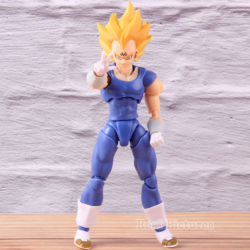 SHF S.H. Figuarts Anime Dragon Ball Z Super Saiyan Majin Vegeta PVC Action Figure Collection Model Toy