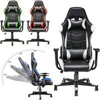 Panana Регулируемый офисный стул Эргономичный с высокой спинкой искусственная кожа гоночный домашний спальня компьютер кресло для геймера ле