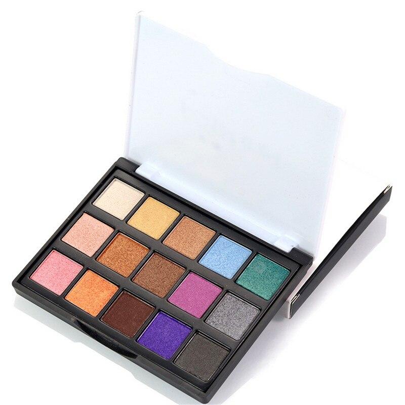 15Colors Eyeshadow Palette Matte Diamond Glitter Matallic Eye Shadow in One Palette Blush Makeup Set for Beauty maquiagem in Eye Shadow from Beauty Health