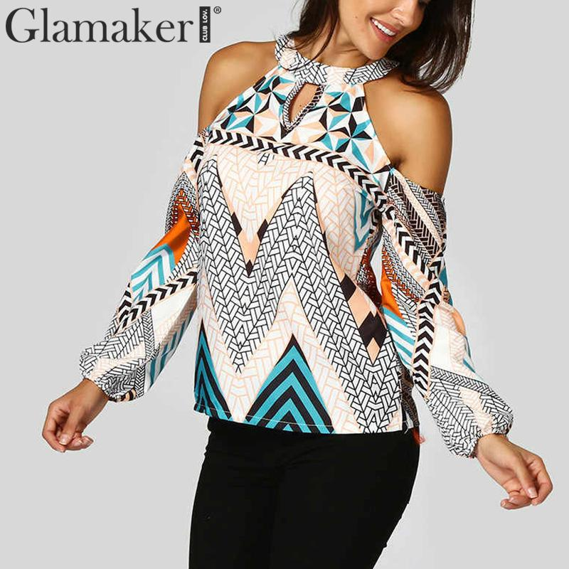 Women's Clothing Impartial Glamaker Print Women Top And Blouses Sexy Top Female Bohemian Elegant Long Sleeve Shirt Summer Beach Holiday Causal Blouse Shirt
