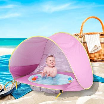 Baby Beach Tent Uv-protecting Sunshelter Children Toys Small House Waterproof Pop Up Awning Tent Portable Ball Pool Kids Tents 1