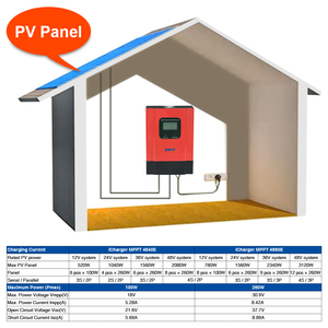 Image 5 - ESmart3 LCD 40A 60A חכם MPPT שמש תשלום בקר מקס 150VDC עם RS485 וסוללה טמפרטורת חיישן 12V/24V/36V/48V