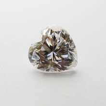 5*5mm DEF Heart Cut White Moissanite Stone Loose Moissanite Diamond 0.42 carat for  DIY Ring heart cut out turnable ring