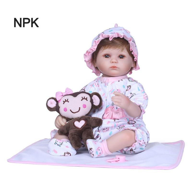 NPK 3D 40cm Cloth Cotton Simulation Doll Lifelike Vinyl Reborn Baby DollsNPK 3D 40cm Cloth Cotton Simulation Doll Lifelike Vinyl Reborn Baby Dolls